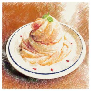 桃パンケーキ